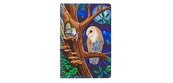 "Crystal Art ""Owl and Fairy Tree"" Notizbuch Kit, 26 x 18 cm"