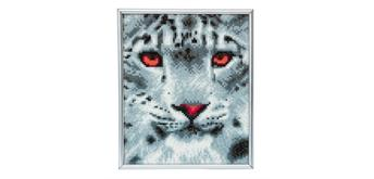 "Crystal Art ""Picture Frame Kit"" Snow Leopard"