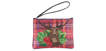 Crystal Art Pouch - Winter Stag