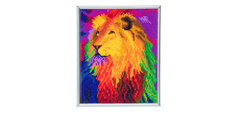 "Crystal Art ""Rainbow Lion"" Bilderrahmen 21 x 25 cm"