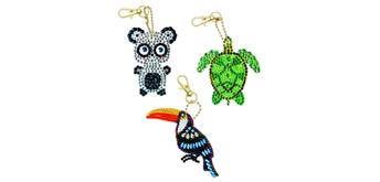 Crystal Art Schlüsselanhänger Exotic Animals