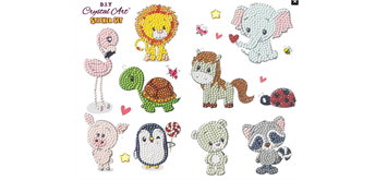 Crystal Art Sticker Animal Antics Set of 10