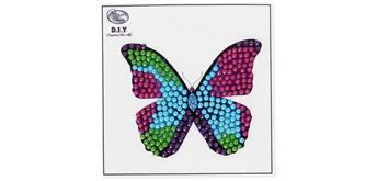 """Crystal Art Sticker """"Disco Butterfly"""" Motif mit Werkzeug"""