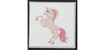 Crystal Art Sticker Einhorn 9 x 9 cm