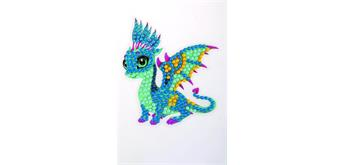 "Crystal Art Sticker ""Friendly Dragon"" Motif mit Werkzeug"