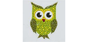 """Crystal Art Sticker """"Green Owl"""" Motif mit Werkzeug"""