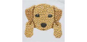 Crystal Art Sticker Hund 9 x 9 cm, mit Werkzeug