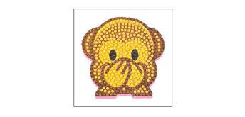 """Crystal Art Sticker """"Monkey"""" Motif mit Werkzeug"""