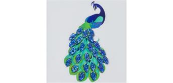 """Crystal Art Sticker """"Peacock"""" Motif mit Werkzeug"""