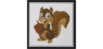 "Crystal Art Sticker ""Smiling Squirrel"" Motif mit Werkzeug"