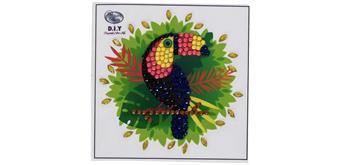 """Crystal Art Sticker """"Toucan"""" Motif mit Werkzeug"""