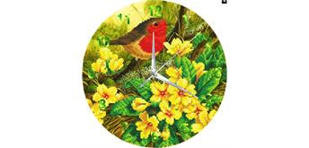"Crystal Art ""Summer Robin"" Clock Kit 30 cm"