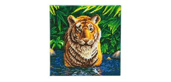 Crystal Art Tiger Pool Framed Kit, 30 x 30 cm