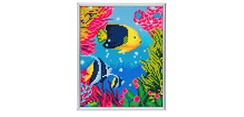 "Crystal Art ""Tropical Fish"" Bilderrahmen 21 x 25 cm"
