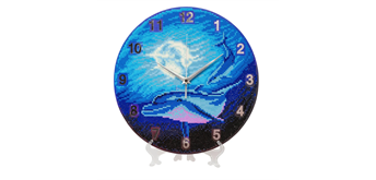 "Crystal Art ""Watery Moon"" Clock Kit 30 cm"