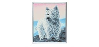 "Crystal Art ""Westie"" Bilderrahmen 21 x 25 cm"