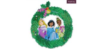 Crystal Art Wreath Christmas Princess 30 cm Disney