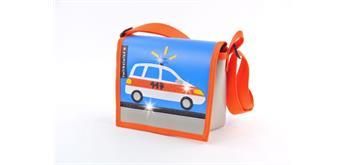 cwirbelwind Kindergartentasche Polizeiauto Glitzer