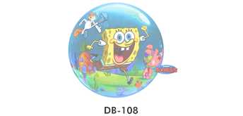 Deco Bubble Ø 56 cm, Birthday Spongebobs World, ohne Füllung