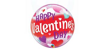 Deco Bubble Ø 56 cm Happy Valentine's, ohne Füllung