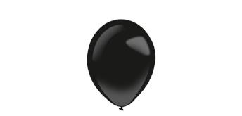 Deko-Rundballons Ø 28 cm, schwarz 50-er Pack