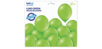 Deko-Rundballons Ø 33 cm, lime green, 25er Pack