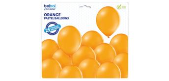 Deko-Rundballons Ø 33 cm, orange, 25er Pack