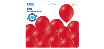 Deko-Rundballons Ø 33 cm, rot, 25er Pack
