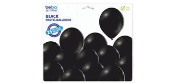 Deko-Rundballons Ø 33 cm, schwarz, 25er Pack