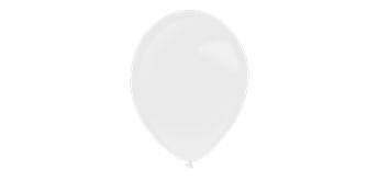 Deko-Rundballons Ø 35 cm, frosty white, 50er Pack