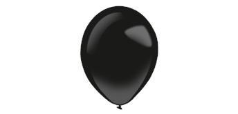 Deko-Rundballons Ø 35 cm,Jet Black, 50er Pack