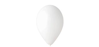 Deko-Rundballons Ø 35 cm, weiss pastell, 100er Pack