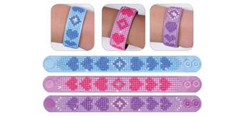 Diamond Dotz Armband 3er Set Love