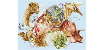 Diamond Dotz Dinosaurier 110 x 80 cm