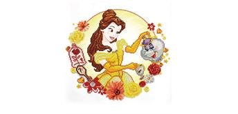Diamond Dotz Disney Princess Belle 40 x 40 cm