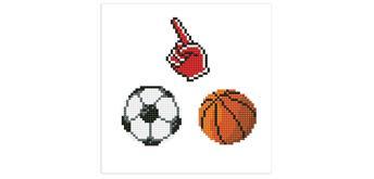 Diamond Dotz Dotzies - Sticker 3-er Set Fan