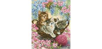 Diamond Dotz Kitty Knits 50 x 60 cm