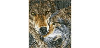 Diamond Dotz Kuschelnde Wölfe 42 x 47 cm