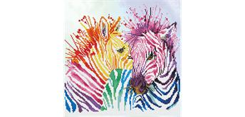 Diamond Dotz Rainbow Zebras 40 x 40 cm