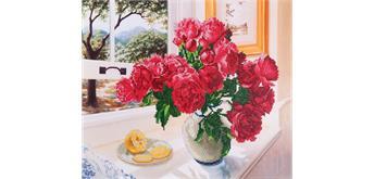 Diamond Dotz Roses by the Window 57 x 49 cm