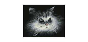 Diamond Dotz SQUARES Shadow Cat 25 x 32 cm