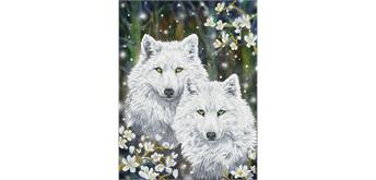 Diamond Dotz Winter Wolves 51 x 66 cm