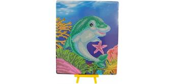 Diamond Painting Delfin mit Aufsteller 25 x 21 cm