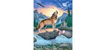 Diamond Painting Set FZX208 Wolf Square Stones 50 x 40 cm