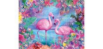 Diamond Painting Set FZX301 Flamingo Square Stones 50 x 40 cm