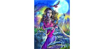 Diamond Painting Set FZX365 Wolf - Lady Square Stones 50 x 40 cm