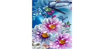 Diamond Painting Set FZX380 Flowers Square Stones 50 x 40 cm