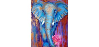 Diamond Painting Set FZX513 Elefant Square Stones 50 x 40 cm