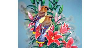 Diamond Painting Set GD74292 Birds 40 x 30 cm