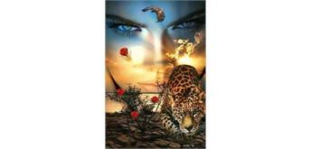 Diamond Painting Set GM0020 Leopard Girl 50 x 40 cm